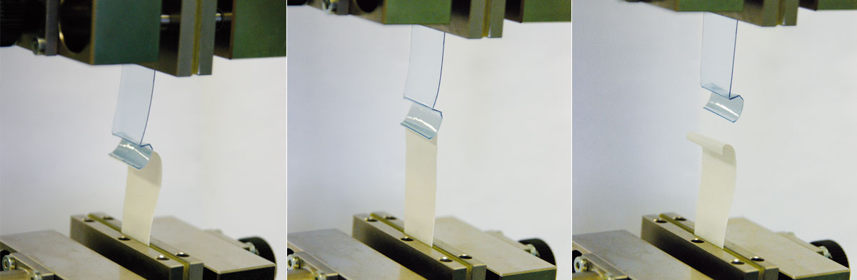 Tensile test according to EN 868-5 and ASTM F88/F88M (seal strength)